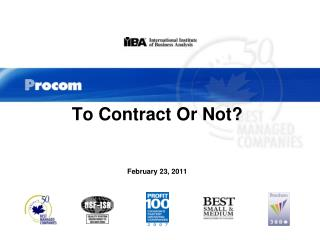 To Contract Or Not? February 23, 2011