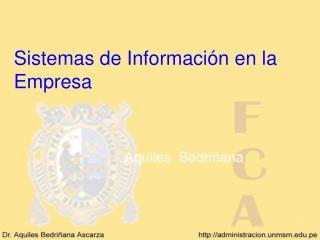 Sistemas de Informaci n en la Empresa