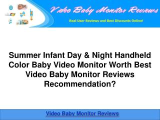 Summer Infant Day & Night Handheld Color Baby Video Monitor