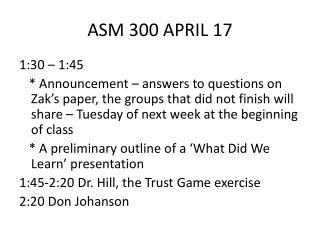 ASM 300 APRIL 17