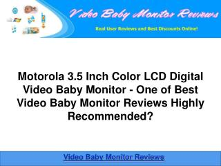 Motorola 3.5 Inch Color LCD Video Baby Monitor