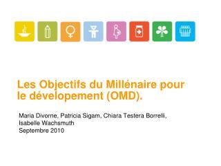 Les Objectifs du Millénaire pour le dévelopement (OMD).