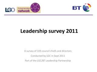 Leadership survey 2011