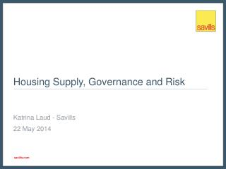 Housing Supply, Governance and Risk
