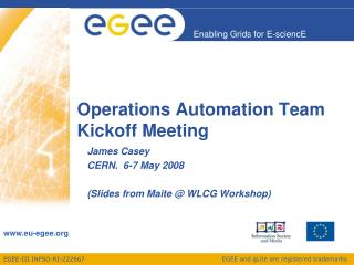 Operations Automation Team Kickoff Meeting