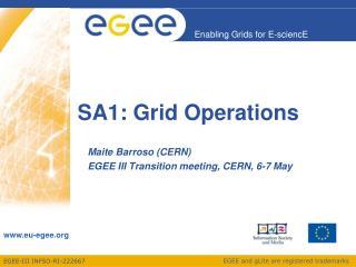SA1: Grid Operations