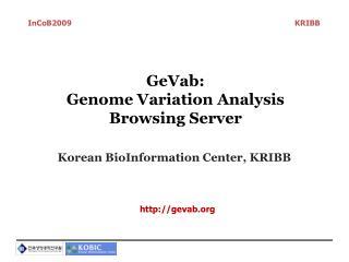 GeVab :  Genome Variation Analysis Browsing Server