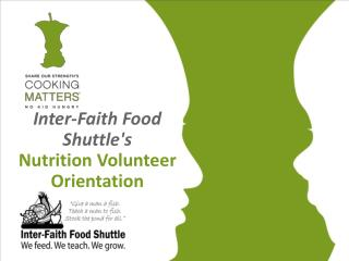 Inter-Faith Food Shuttle's  Nutrition Volunteer Orientation
