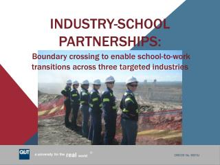 Defining Industry-School Partnerships