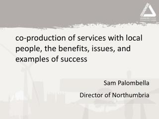 co-production of services with local people, the benefits, issues, and examples of success