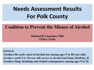 Needs Assessment Results For Polk County