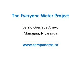 The Everyone Water Project
