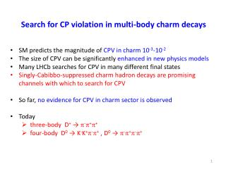 Search for CP violation in multi-body charm decays