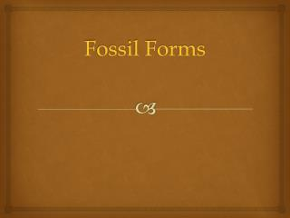 Fossil Forms