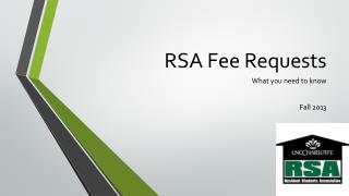RSA Fee Requests