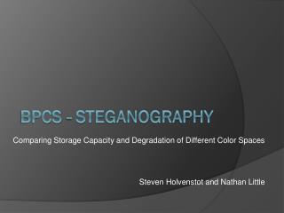 BPCS - Steganography