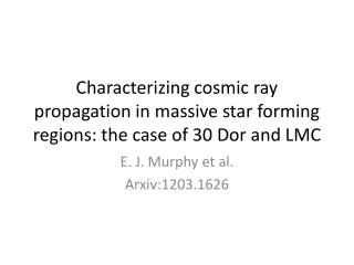 E. J. Murphy et al. Arxiv:1203.1626