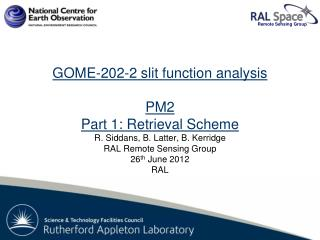 GOME-2 FM202-2: PM2 Slit function analysis