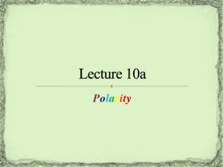 Lecture 10a