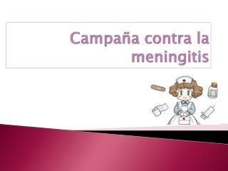 Campaña contra la meningitis