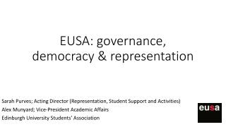 EUSA: governance, democracy & representation