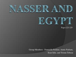 Nasser and Egypt