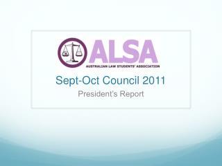 Sept-Oct Council 2011