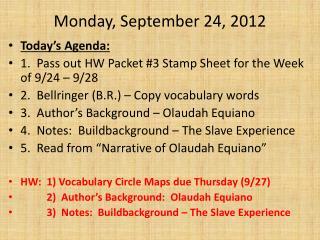 Monday, September 24 ,  2012