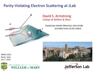 Parity-Violating Electron Scattering at  JLab