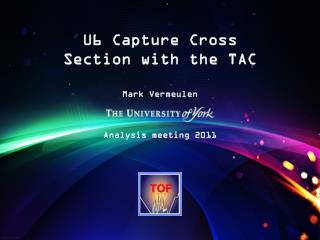 U6 Capture Cross Section with the TAC