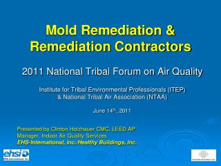 Mold Remediation &  Remediation Contractors