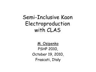 Semi-Inclusive Kaon  Electroproduction with CLAS