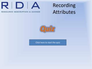 Recording Attributes