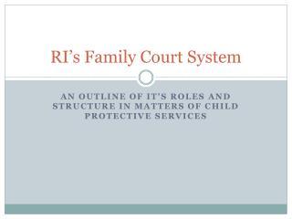 RI's Family Court System