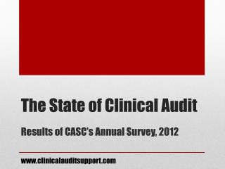 The State of Clinical Audit