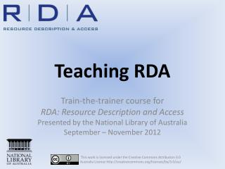 Teaching RDA