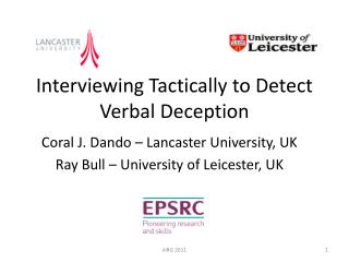 Interviewing Tactically to Detect Verbal Deception