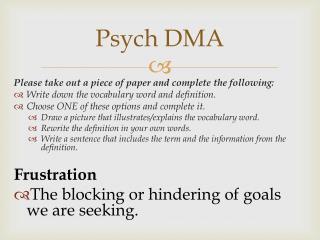 Psych DMA