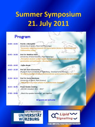Summer Symposium  21.  July  2011