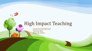 High Impact Teaching