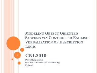 Modeling Object Oriented Systems via Controlled English Verbalization of Description Logic