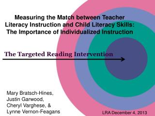 The Targeted Reading Intervention