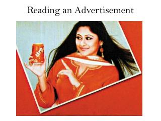 Reading an Advertisement