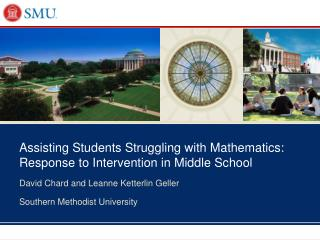 Assisting Students Struggling with Mathematics: Response to Intervention in Middle School
