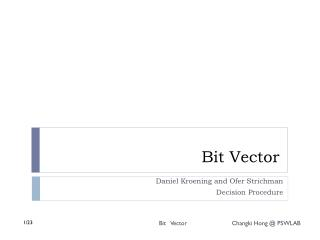 Bit Vector