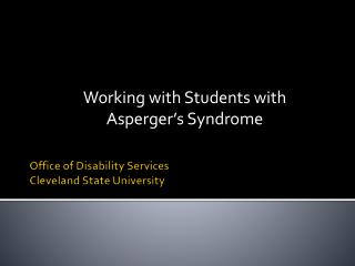 Office of Disability Services Cleveland State University
