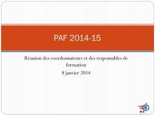 PAF 2014-15