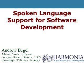 Spoken Language Support for Software Development