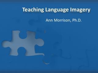 Teaching Language Imagery