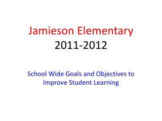 Jamieson Elementary 2011-2012